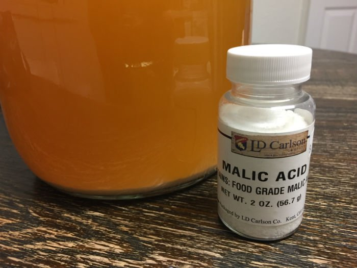 Adjusting Hard Cider Acidity (TA) & pH with Malic Acid